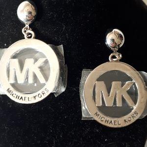 Michael Kors Pierced Earring Silver Tone NIB